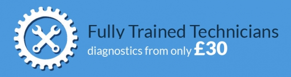 Fully Trained Technicians diagnostics from only £30